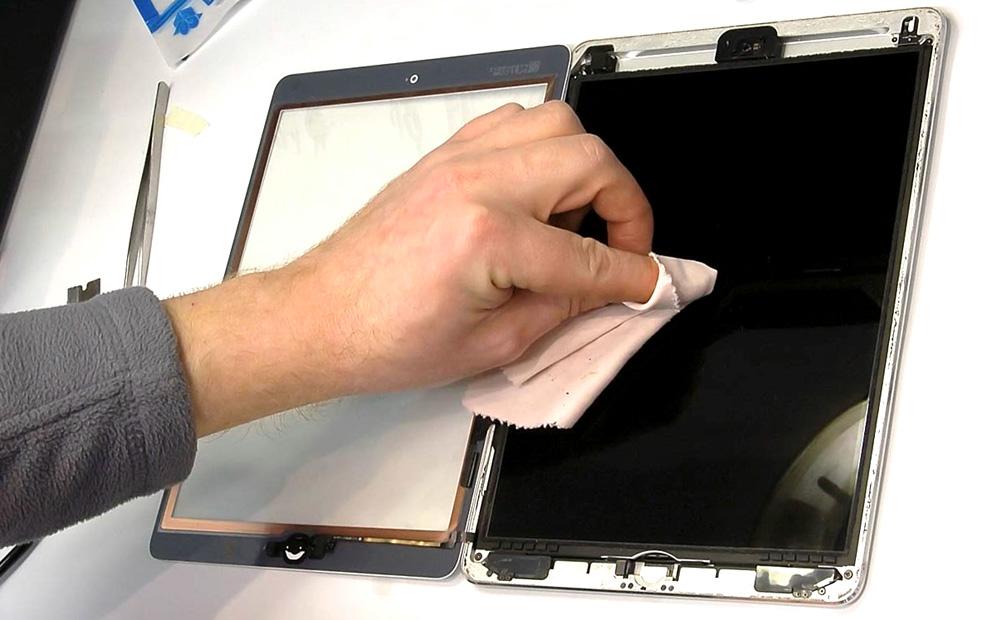 Замена дисплея планшета своими руками 45